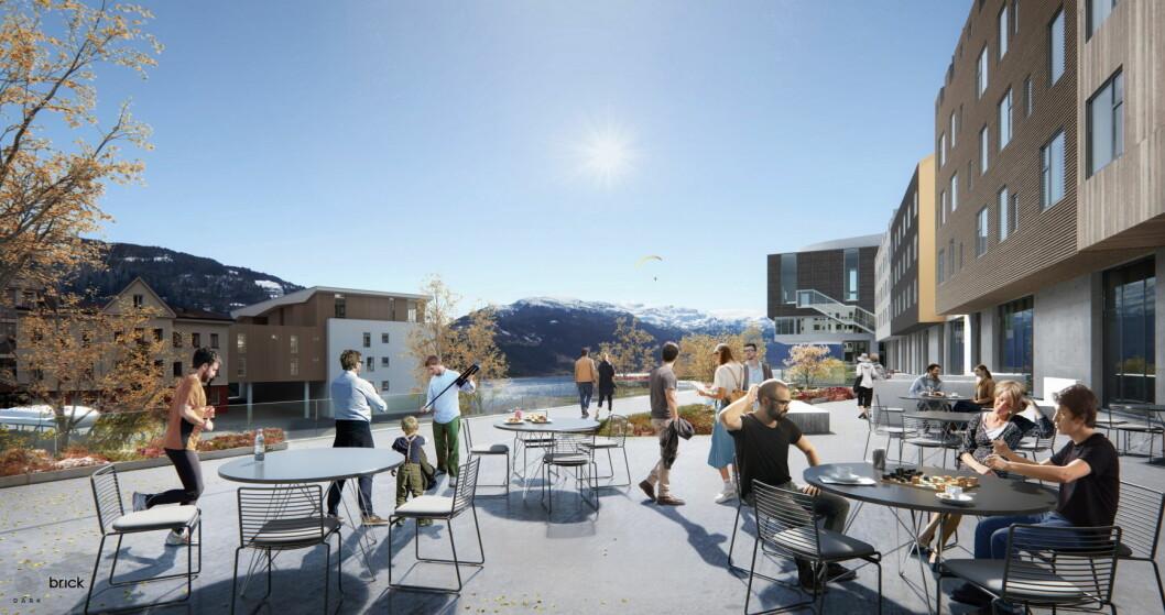Scandic Hotels åpner hotell i Voss i januar 2020. (Illustrasjon: Scandic Hotels)