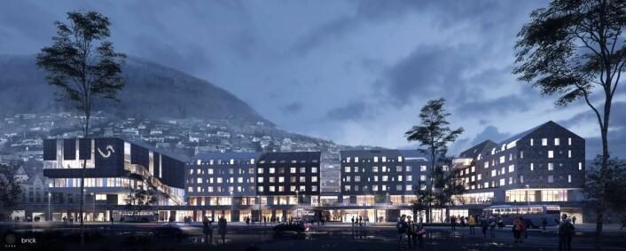 Scandic Voss får 216 rom når det åpnes i 2020. (Illustrasjon: Scandic Hotels)