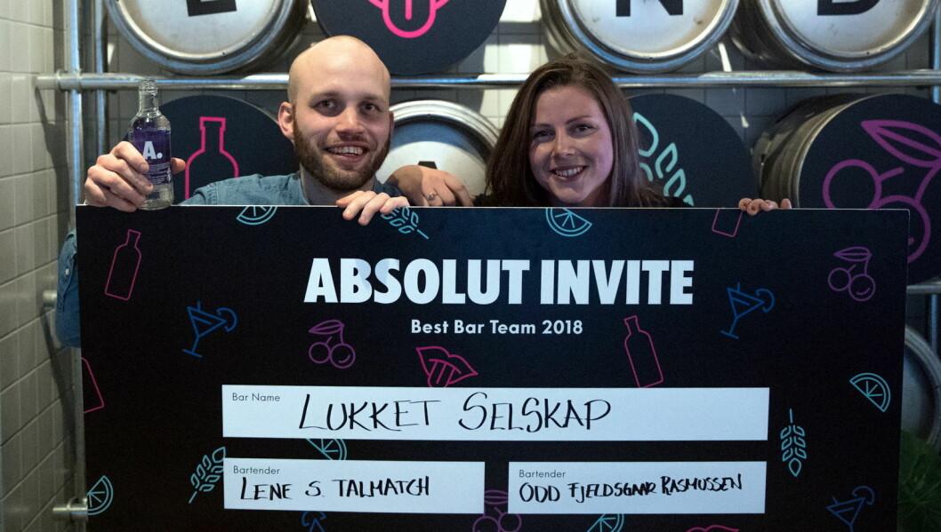 Lene Salbu Talmatch og Odd Fjeldsgaard gikk til topps i den norske finalen av Absolut Invite. (Foto: Arrangøren/Simen Øvereng)