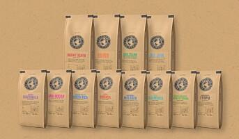 Kaffeserie med ny emballasje