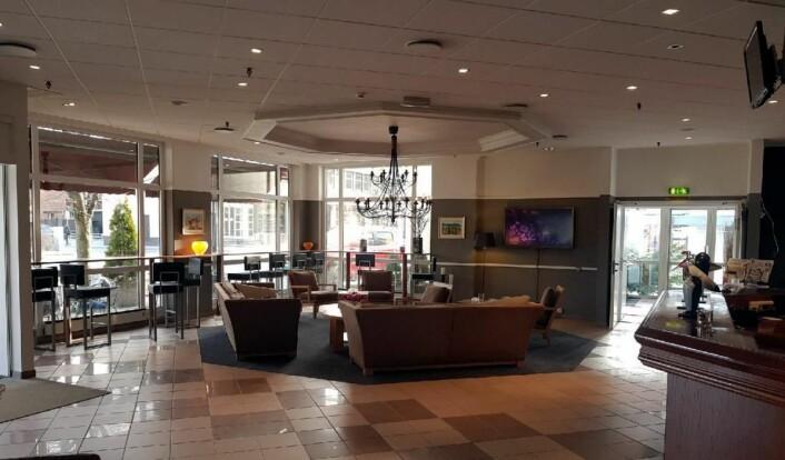 Fra lobbyen på Scandic Hønefoss. (Foto:Scandic Hotels)