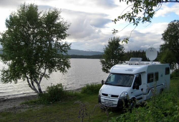 Stadig flere bobiler inntar norske campingplasser. (Foto: Hans Degerdal)