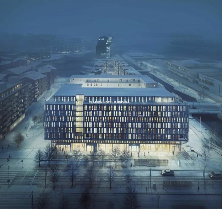 Slik blir nye Clarion Hotel Oslo. (Illustrasjon: Nordic Choice Hotels)