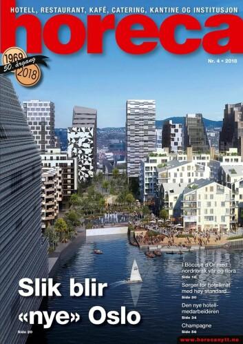 Omslaget på Horecas fjerde utgave i 2018. (Illustrasjon: Via Nova/Oslo S Utvikling/layout: Tove Sissel Larsgård)