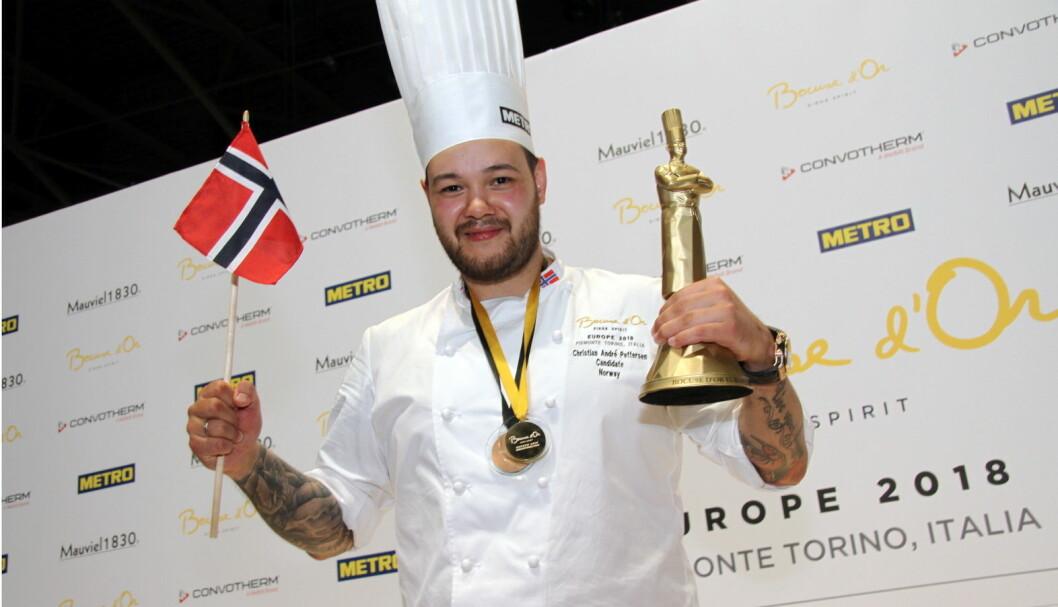 Christian A. Pettersen til topps for Norge i Torino. (Foto: Morten Holt)