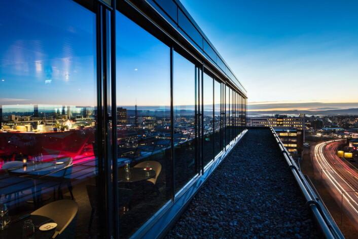 Utsikt fra«Top Floor Restaurant & Bar». (Foto: Hotellet)