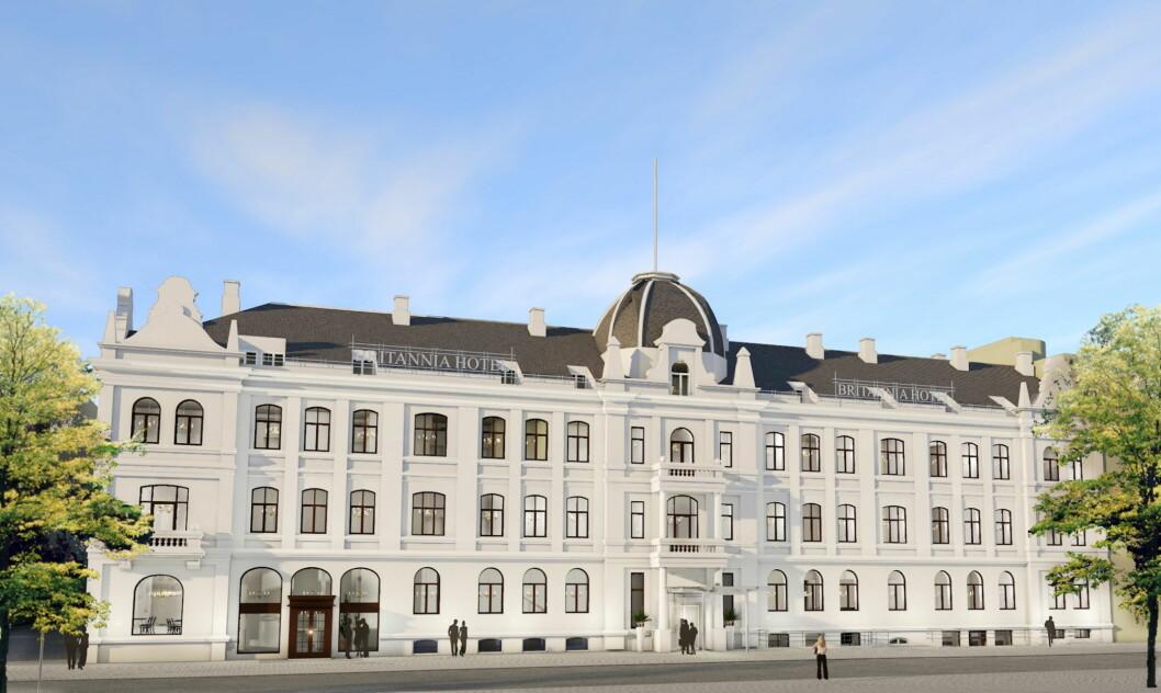 Britannia Hotel blir Norges andre og Nordens femte hotell i den eksklusive samlingen av hoteller i «The Leading Hotels of the World». (Illustrasjon: Britannia Hotel)