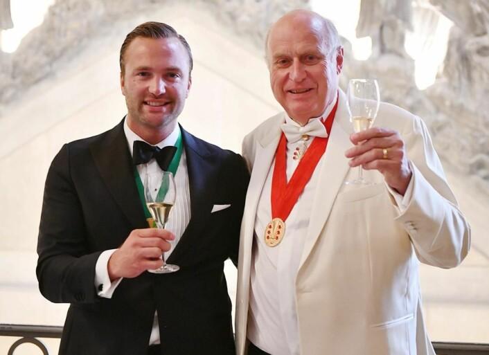 Philippe Baijot (President of Champagne Lanson) og Ole Steinsholt. (Foto: Michel Jolyot)