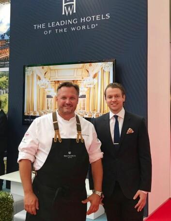 Hotelldirektær Mikael Forselius (til venstre) og salgs- og markedsdirektør Peter Gjerde. (Foto: Britannia Hotel)