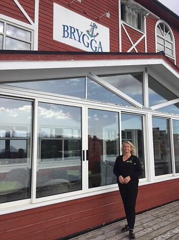 Elisa Thoresen styrer på Herøy Brygge. (Foto: Herøy Brygge)