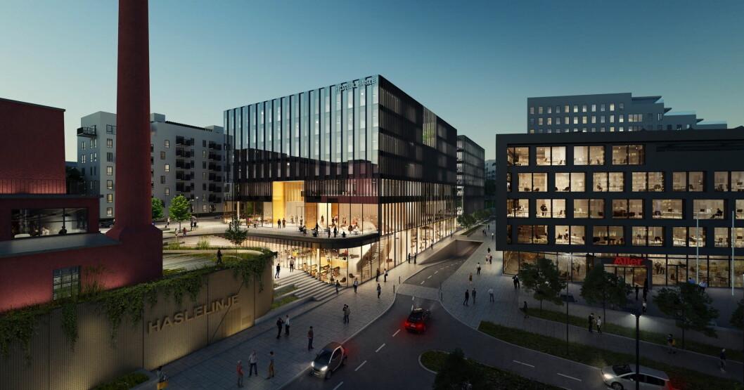 Nordic Choice Hotels åpner nytt hotell på HasleLinje i 2020. (Illustrasjon: Nordic Choice Hotels)
