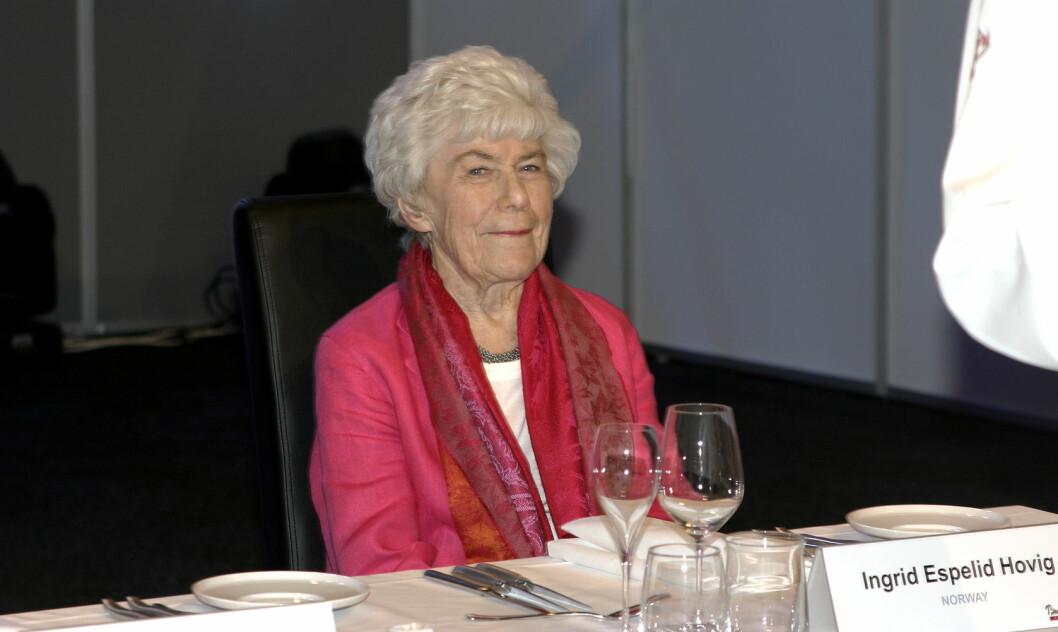 Ingrid Espelid Hovig er død, 94 år gammel. (Foto: Morten Holt)