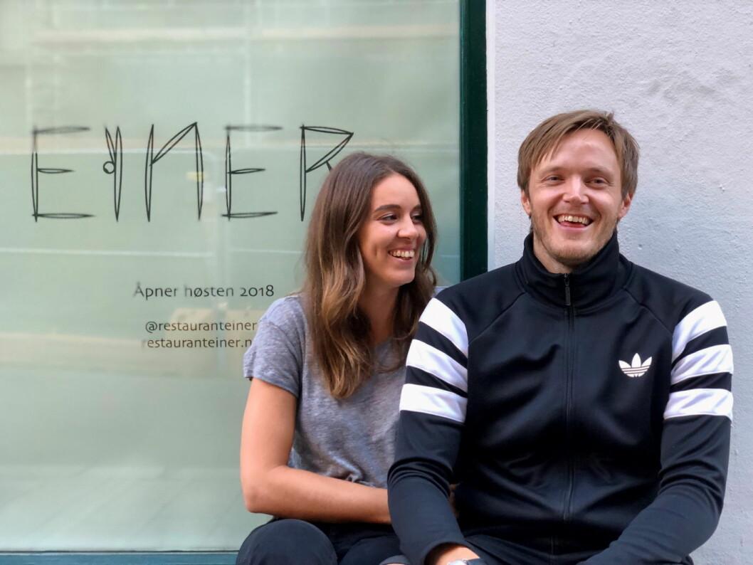 Sara Johansson og Svein Trandem skal lede den nye restauranten Einer i Oslo, som åpnes i begynnelsen av september. (Foto: Einer)