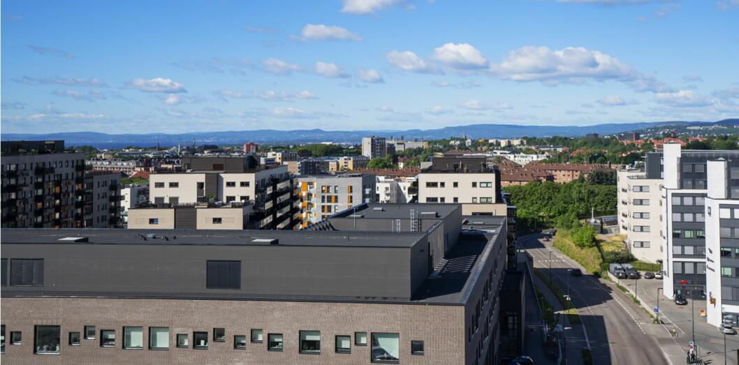 Thon Hotel Storo, som åpner 5. september, har flott utsikt over byen. (Foto: Thon Hotels)