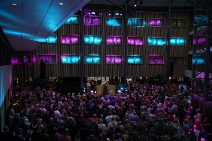 Fra den offisielle gjenåpningsfesten av Quality Airport Hotelo Gardermoen. (Foto: Jonas Berglund)
