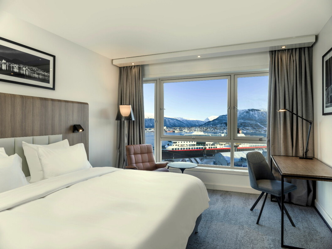 Hotellrommene på Radisson Blu Hotel Tromsø er nyoppusset. (Foto: Radisson Hotel Group)