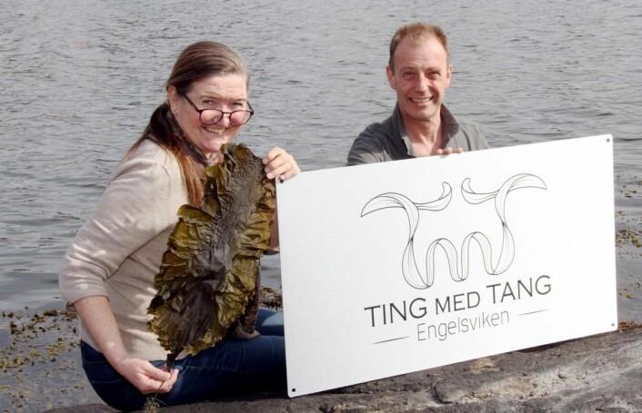 Anne-Lise og Bjørn Viken driver Ting med Tang fra Engelsviken utenfor Fredrikstad. (Foto: Heidi Fjelland)