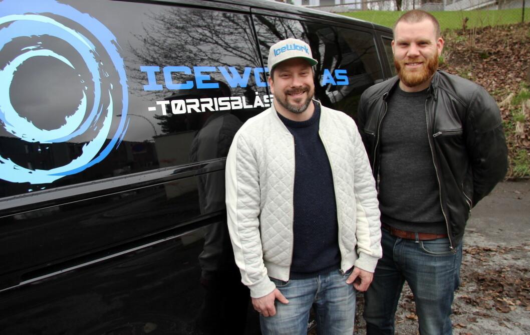 Brødrene Kim Andersen (til venstre) og Hans-Petter Nygård driver Icework. (Foto: Morten Holt)