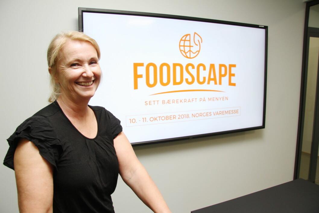 Torill Engelberg er prosjektleder for Foodscape, som arrangeres på Norges Varemesse 10. og 11. oktober. (Foto: Morten Holt)