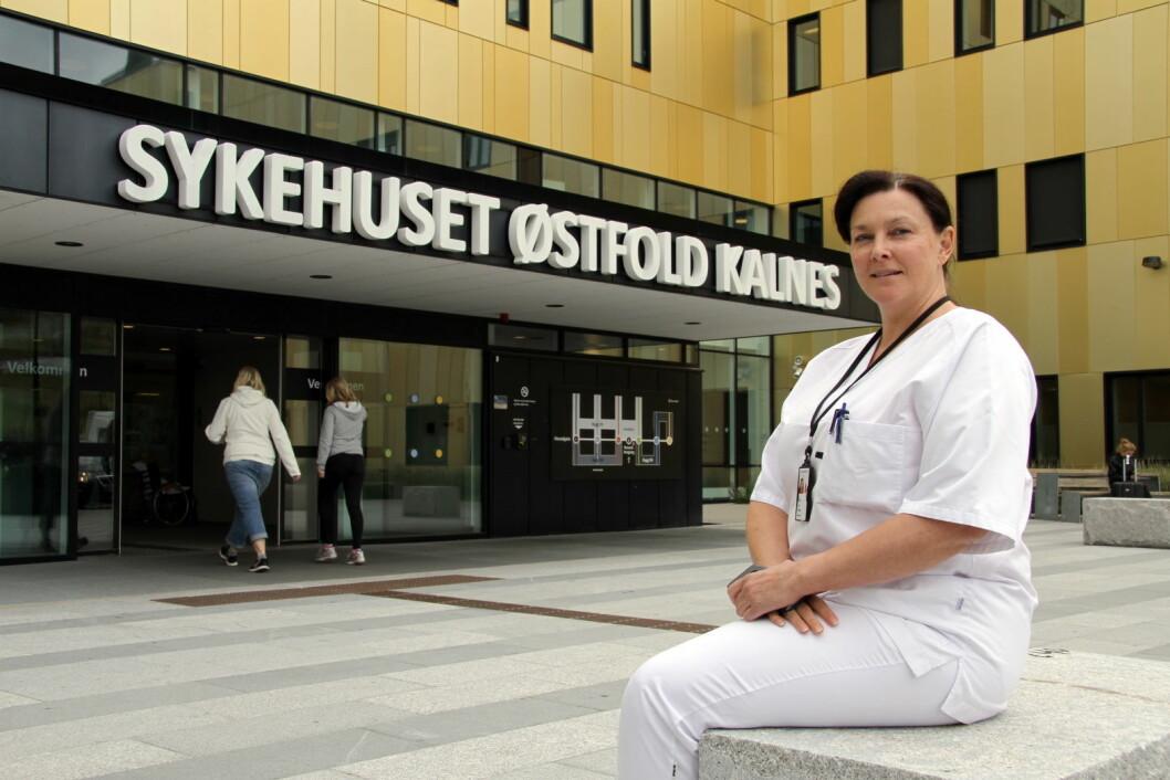 Seksjonsleder Sølvi Thøgersen på Sykehuset Østfold Kalnes. (Foto: Morten Holt)