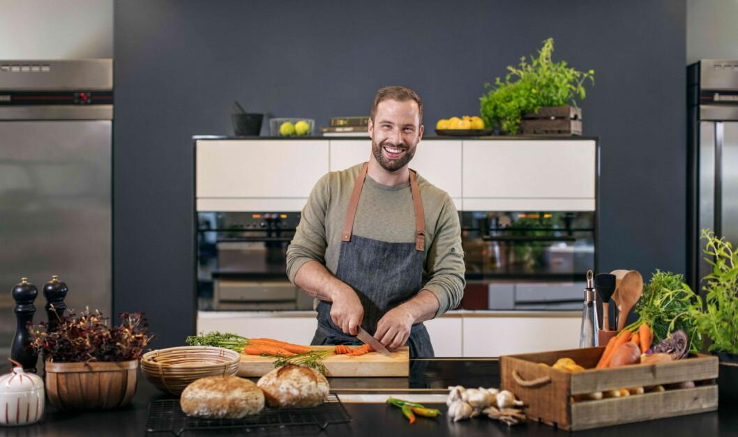 – Det er tydelig at vi har truffet en nerve i markedet med vår vegetarkasse, sier Adam Bjerck (Foto: Adams Matkasse)