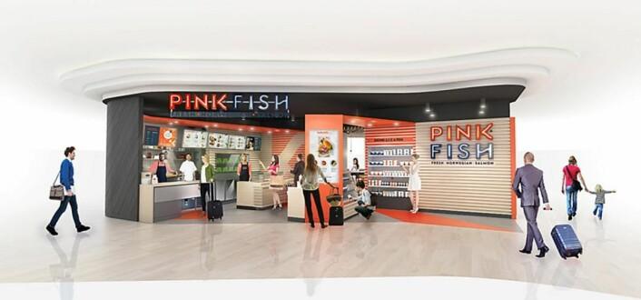 Slik tenker Geir Skeie og Pink Fish seg sitt nye spisested på Sola. (Illustrasjon: Pink Fish)