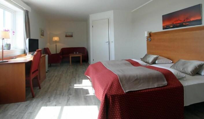 Hotellrom på Vestfjord Hotel. (Foto: Scandic Hotels/Vestfjord Hotel)