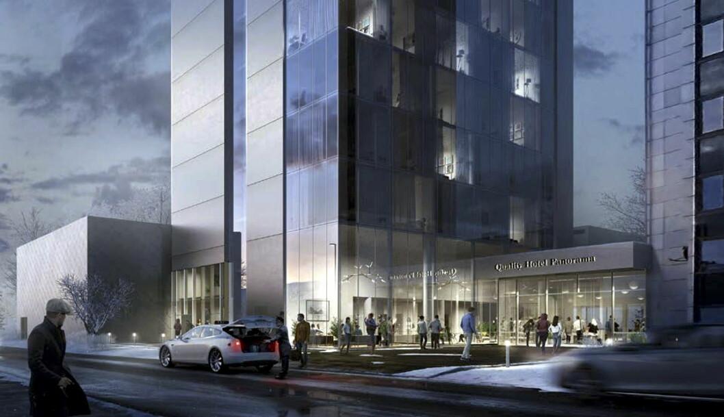 Quality Hotel Panorama skal oppgraderes kraftig i løpet av de to neste årene. (Illustrasjon: Quality Hotel)