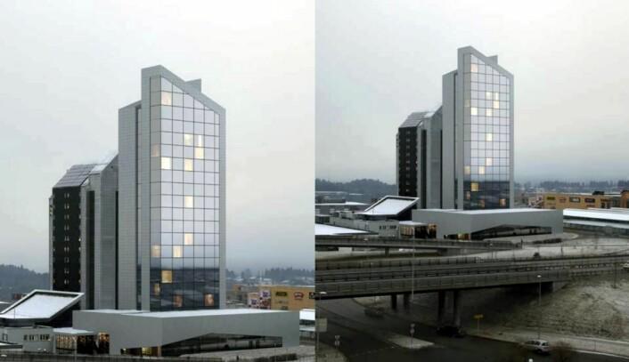 I dag er området rundt Quality Hotel Panorama utbygd. (Foto: Hotellet)
