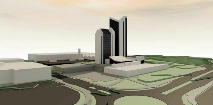 Det skal bygges 200 nye hotellrom på Quality Hotel Panorama. Dessuten skal konferanseområdet utvides for å ta opp kurs- og konferansekampen i trønderhovedstaden. (Illustrasjon: Quality Hotel)