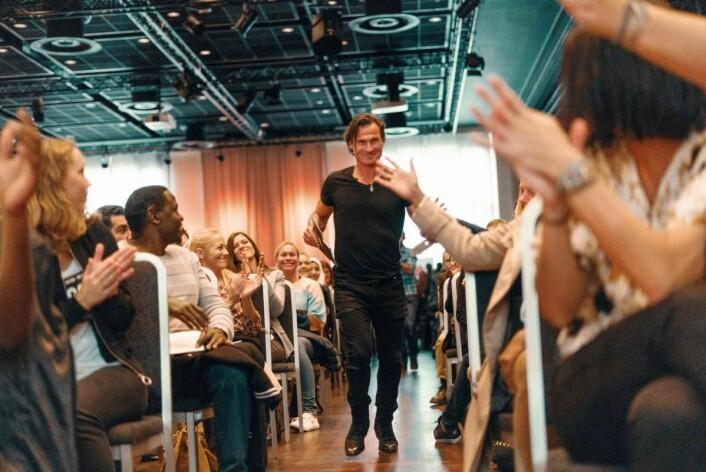 Petter A. Stordalen var på plass da«Talentjakten» ble arrangert på Oslo Kongressenter i helga. (Foto: Nordic Choice Hotels)