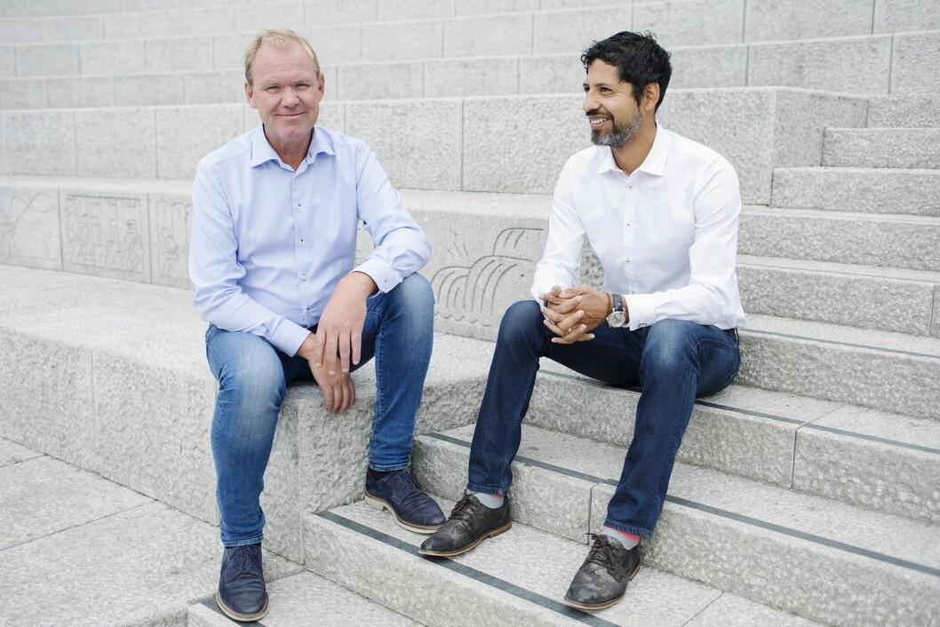 Finn Vetle Hansen og Håkon Wåge-Lorentzen. (Foto: Charlotte Sverdrup)