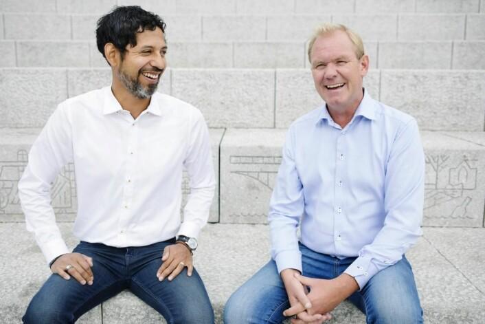 Håkon Wåge-Lorentzen og Finn Vetle Hansen. (Foto: Charlotte Sverdrup)