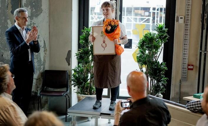 Eline Haugan Bordvik fikk stipendet i fjor. (Foto: KokkeKarlas legat)