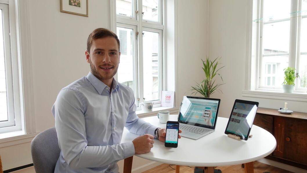 Preben Rasmussen lanserer appen Fersk Fangst. (Foto: Fersk Fangst)