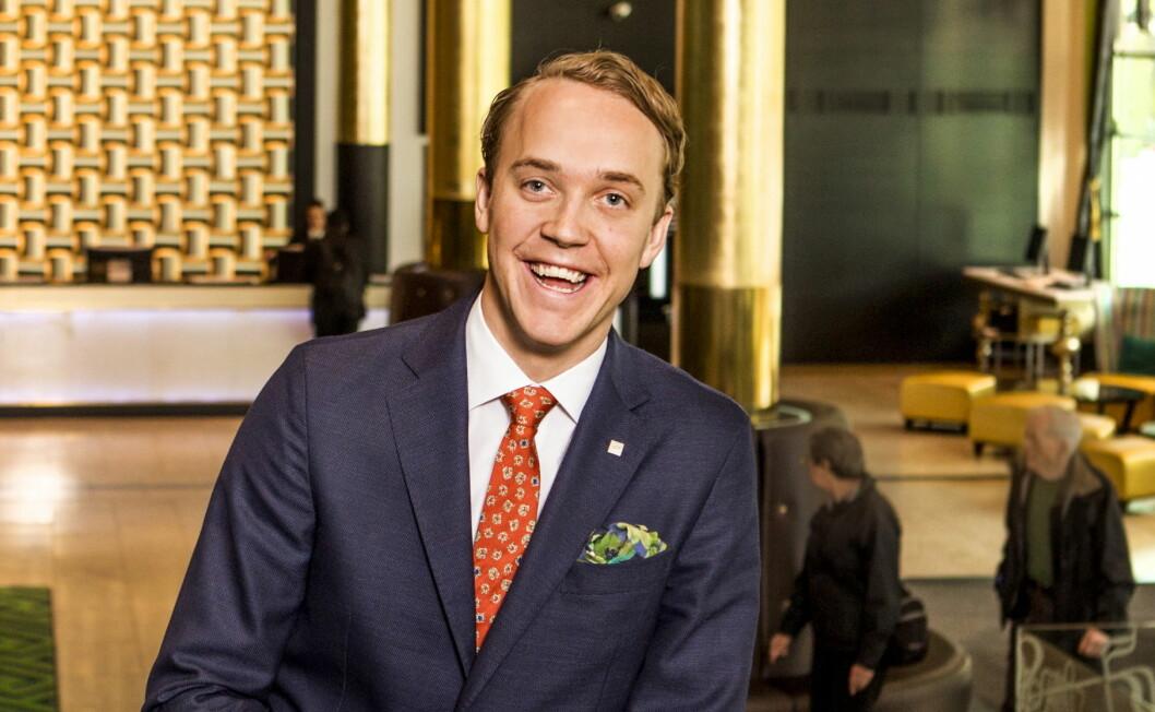 Hotelldirektør Olle Aulin er storfornøyd med at Thon Hotel Stavanger har vunnet prisen Guest Experience Award. (Foto: Gry Traaen)