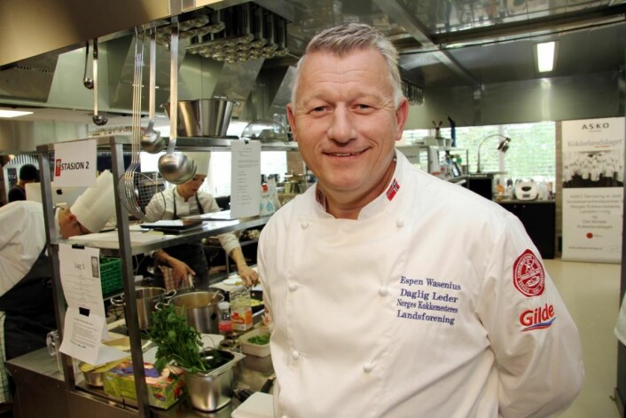 – Dette vil utvilsomt gi kokkene i denne bransjekategorien et løft, mener NKL-leder Espen Wasenius. (Foto: Morten Holt)