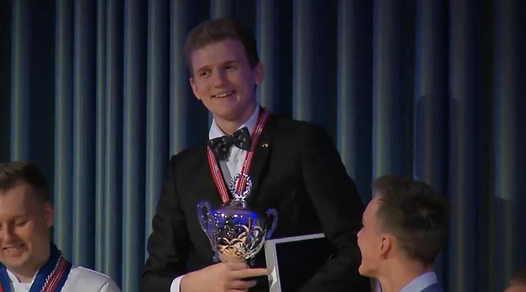 Håvard Werkland er vinner av NM i kokkekunst 2018.
