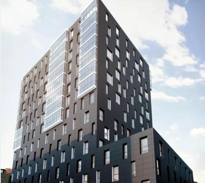 Det nye Comfort-hotellet i Bodø vil få 160 rom. (Foto: Comfort Hotel)