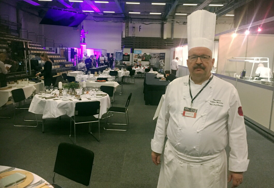 Thor Erik Rosvold, Messesjef for storhusholdningsmessen Meny, og representant for Kokkenes Mesterlaug, Thor Erik Rosvold. (Foto: Arne Dalseng)