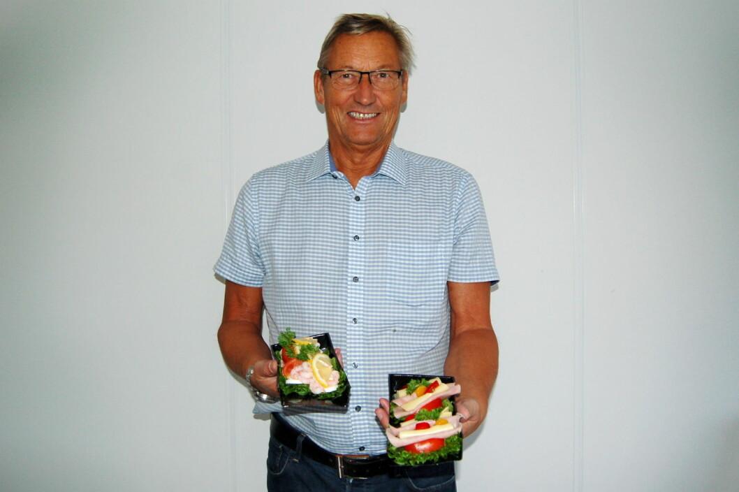 Kjell Helge Korsnes og MP Storkjøkken har utviklet et baguettesystem. (Foto: MP Storkjøkken)