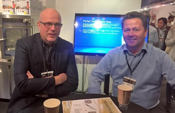 Kjell Wennevik, Trøndelag Storkjøkkensenter AS og Joe Harald Strand, BFSN. (Foto: Arne Dalseng)