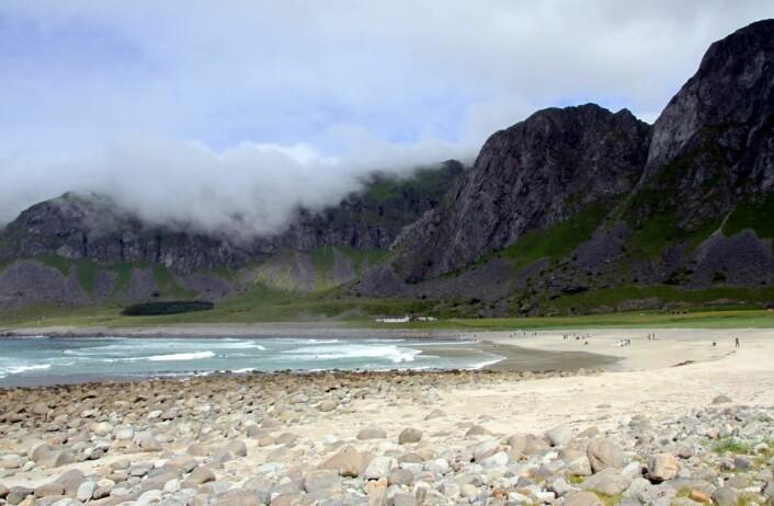 Unstadstranden i Lofoten. (Foto: Morten Holt)
