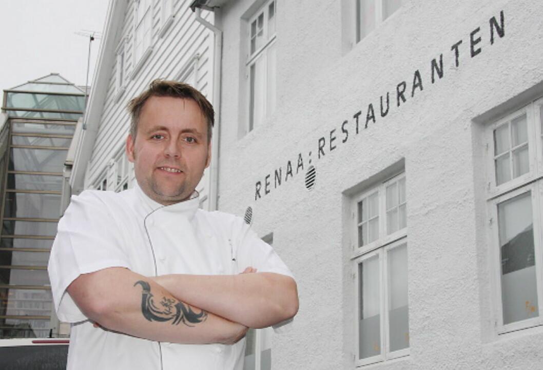 Sven Erik Renaa flytter restaurant Re-Naa til det nye luksushotellet Eilert Smith Hotel, som åpnes neste år. (Foto: Morten Holt)