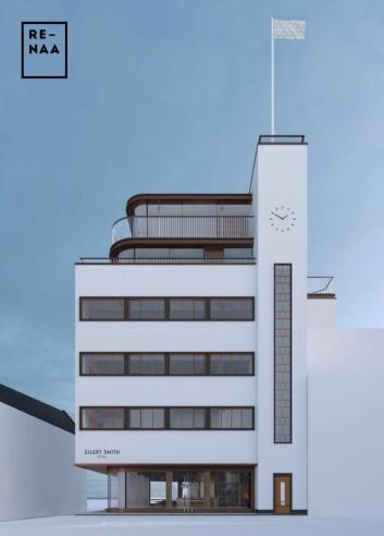 Slik blir nye Eilert Smith Hotel. (Illustrasjon: Trodahl arkitekter)