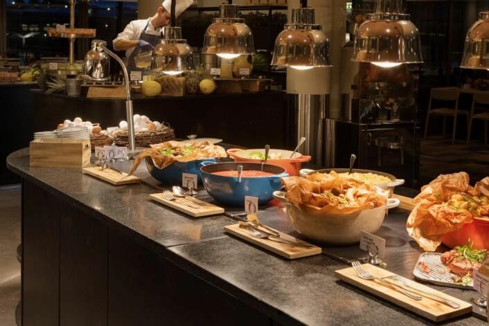 Fra frokostbuffeen til Scandic Nidelven. (Foto: Scandic Hotels)