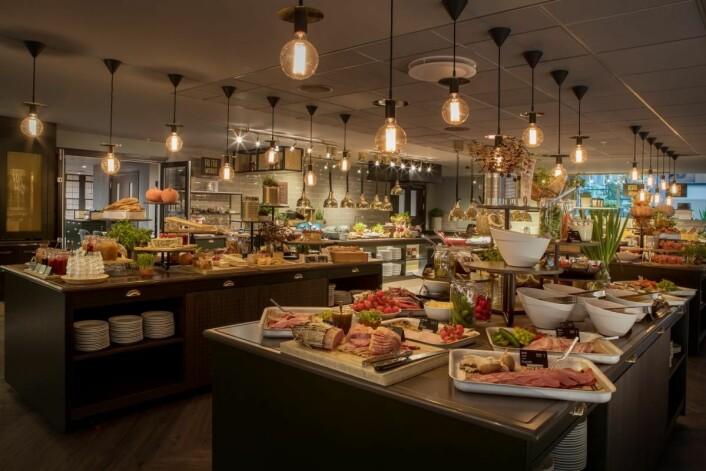 Frokostbuffeen på Scandic Hell. (Foto: Scandic Hotels)
