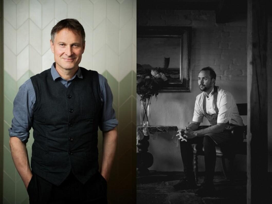 Medgründer av verdenskjente Noma, Claus Meyer, og Bocuse d'Or-vinner Ørjan Johannessen. (Foto: Scandic Hotels)