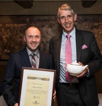 Zoltan Berkes sammen med Stephen Twining. (Foto: Haugen-Gruppen)