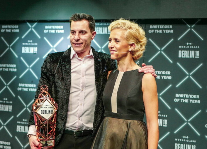 Orlando Marzo vant «Global World Class Bartender of the Year» 2018. (Foto: Helle Øder Valebrokk)